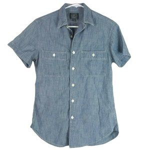 J. Crew Mens Japanese Chambray Shirt XS Blue UK